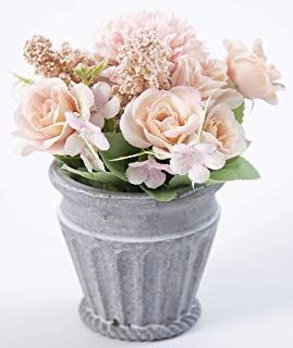 245 & LODESTAR Artificial Mixed Flowers in Pot Fake Potted Flowers ...