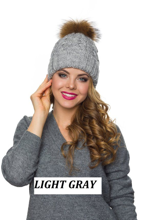 651e3157da7 Pompom hat fleece lined-Pom pom hat-Winter hat for women-Knit Pom ...