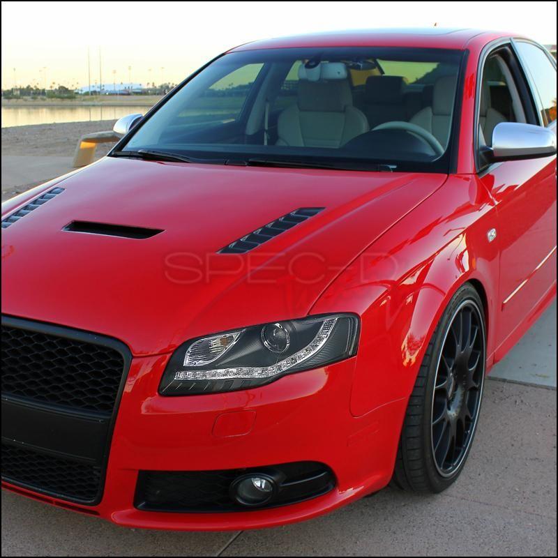 Spec D Projector Headlights Audi A4 Black R8 Led Style 06 08 Version 1 Audi A4 Audi A4 Black Audi