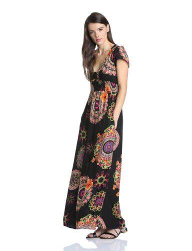 Designermode Spielraum Shop für authentische Desigual Women'S Vest_Andez_42V2174 Summer Sleeveless Maxi ...