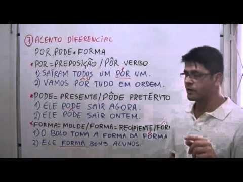 Acentuação - Aula 6 - Acento diferencial: pôr, pôde e fôrma