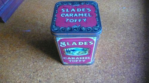 Vintage Slade's Caramel Toffy Can