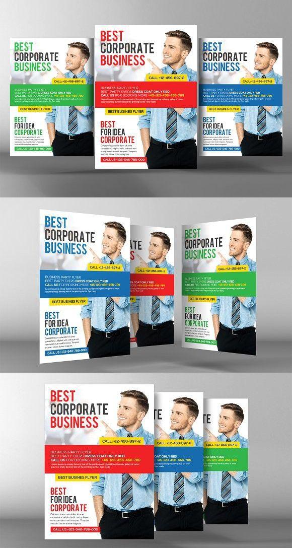 Business Flyer Psd Template Creative Card Templates Modele De Prspectus Conception Cartes