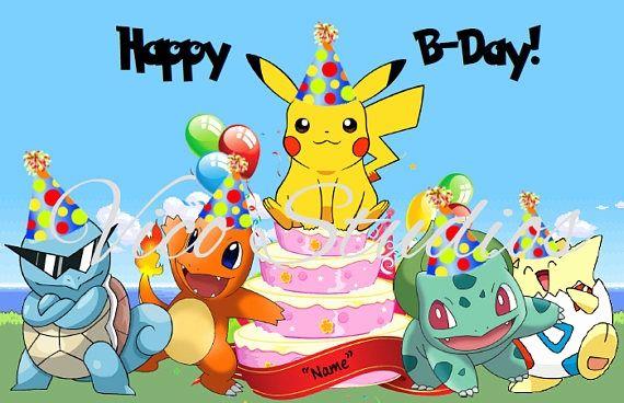 Pokemon Happy Birthday Card Unique Personalize Your Own Pikachu