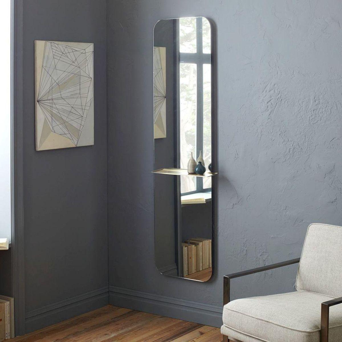 Floating Shelf Floor Mirror | home decor | Pinterest | Floor mirror ...