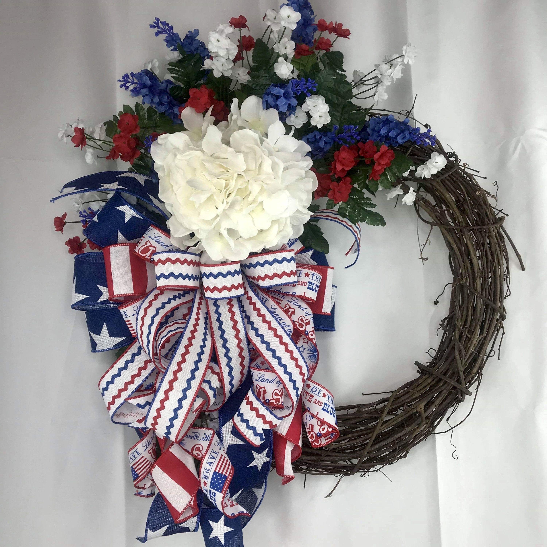 Photo of Wreath for Front Door, Patriotic Wreath