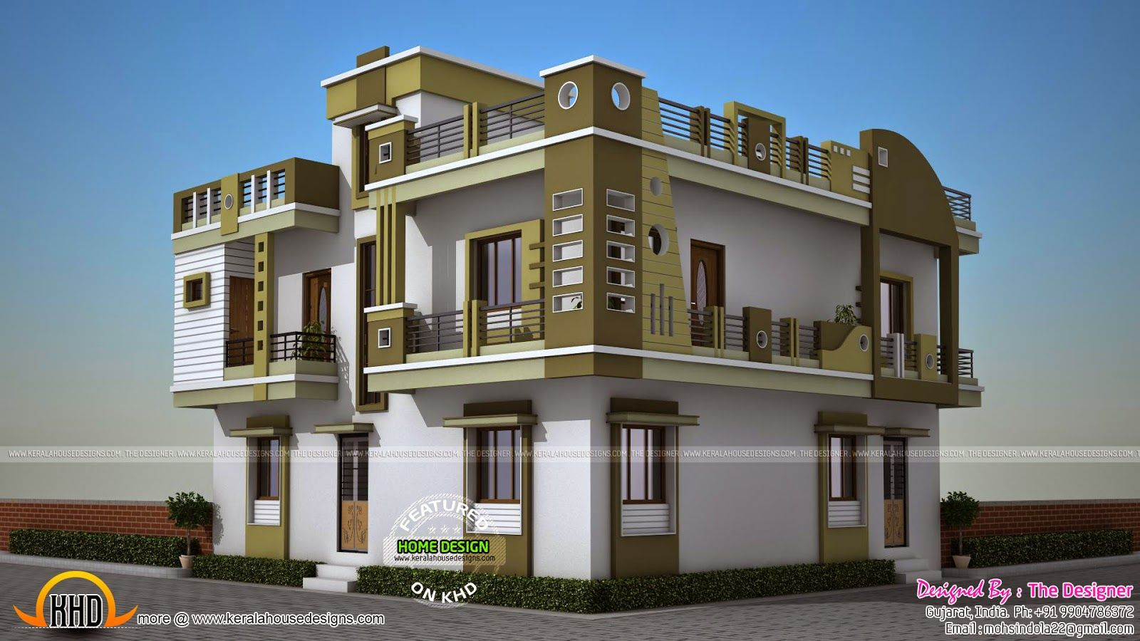 Front Elevation Makeover : Home elevation design in gujarat and style