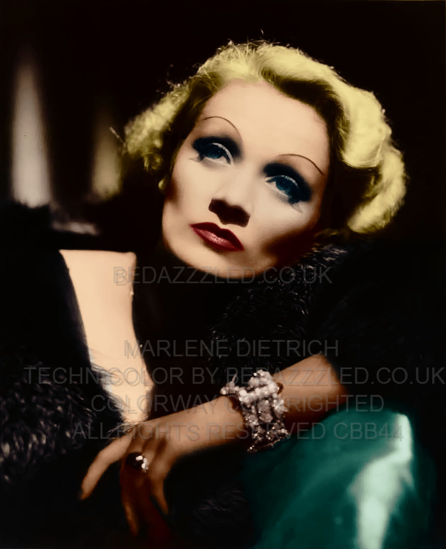 Marlene Dietrich Technicolor Conversion By Bedazzzled Co Uk  # Muebles Pubal Lieres