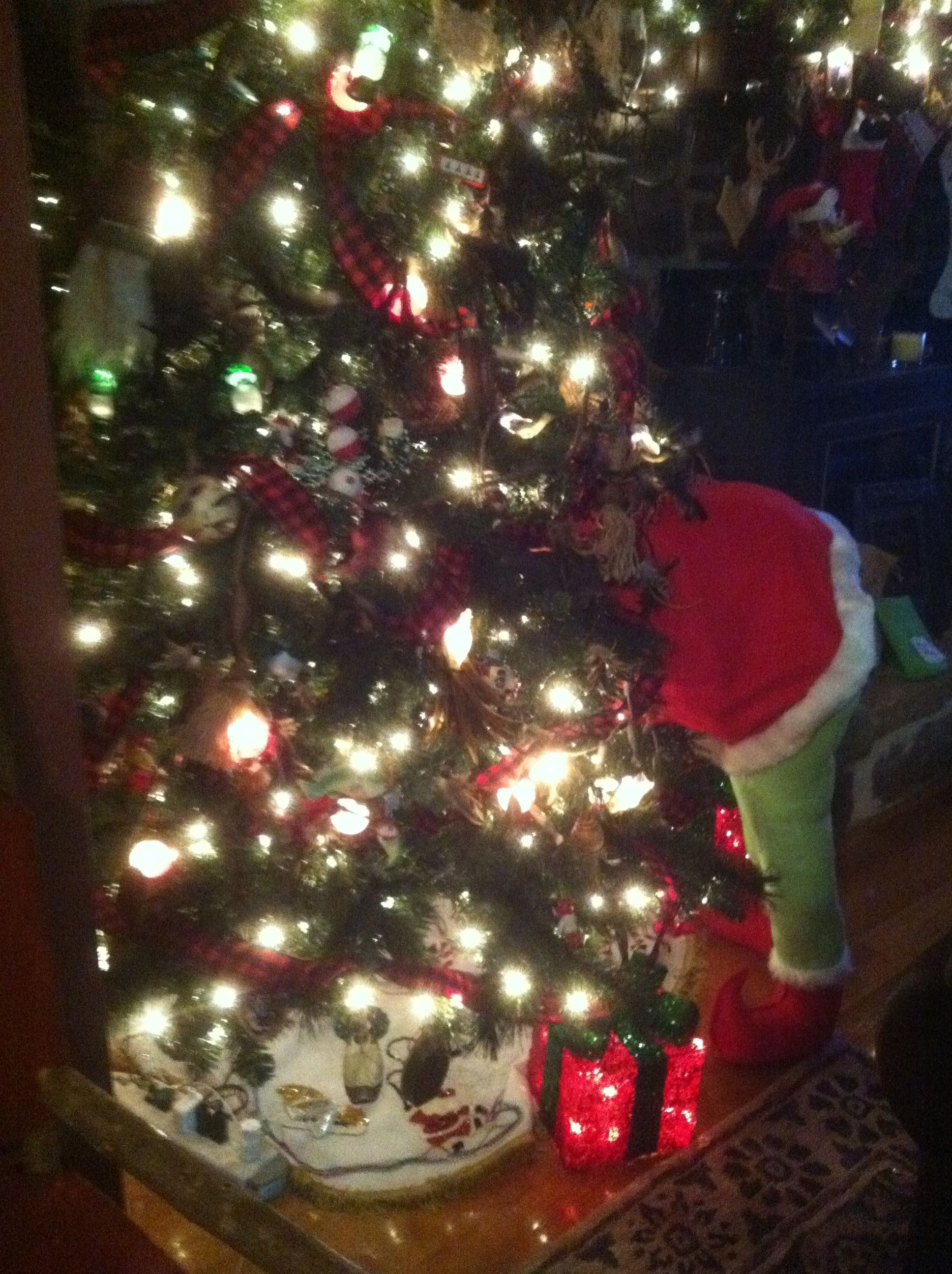 Side view of my Grinch.... he\'s so cute! Merry Christmas ...
