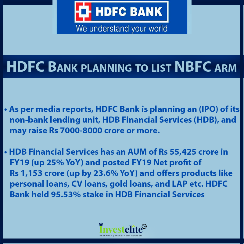 Hdfc Bank Planning To List Nbfc Arm Intraday Trading How To Plan Initial Public Offering