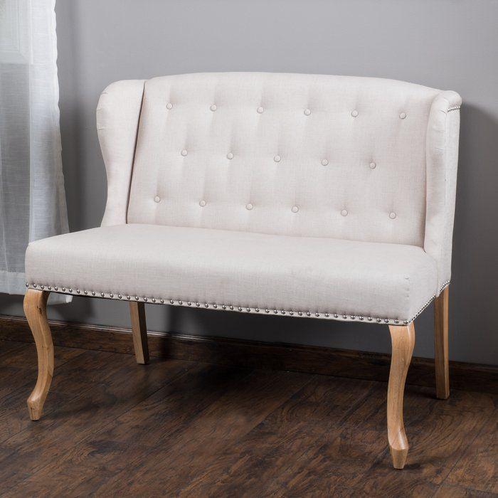 amazing velvet modern high bench sofa tufted belleze beige deal loveseat settee shop love bedroom seat back