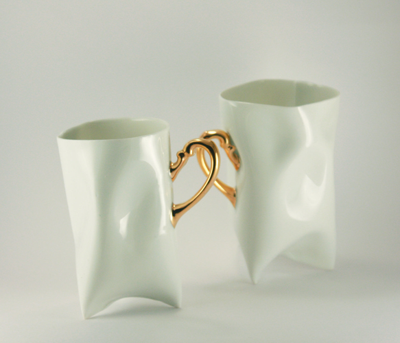 Porcelain and Gold Cup Set - Uncovet