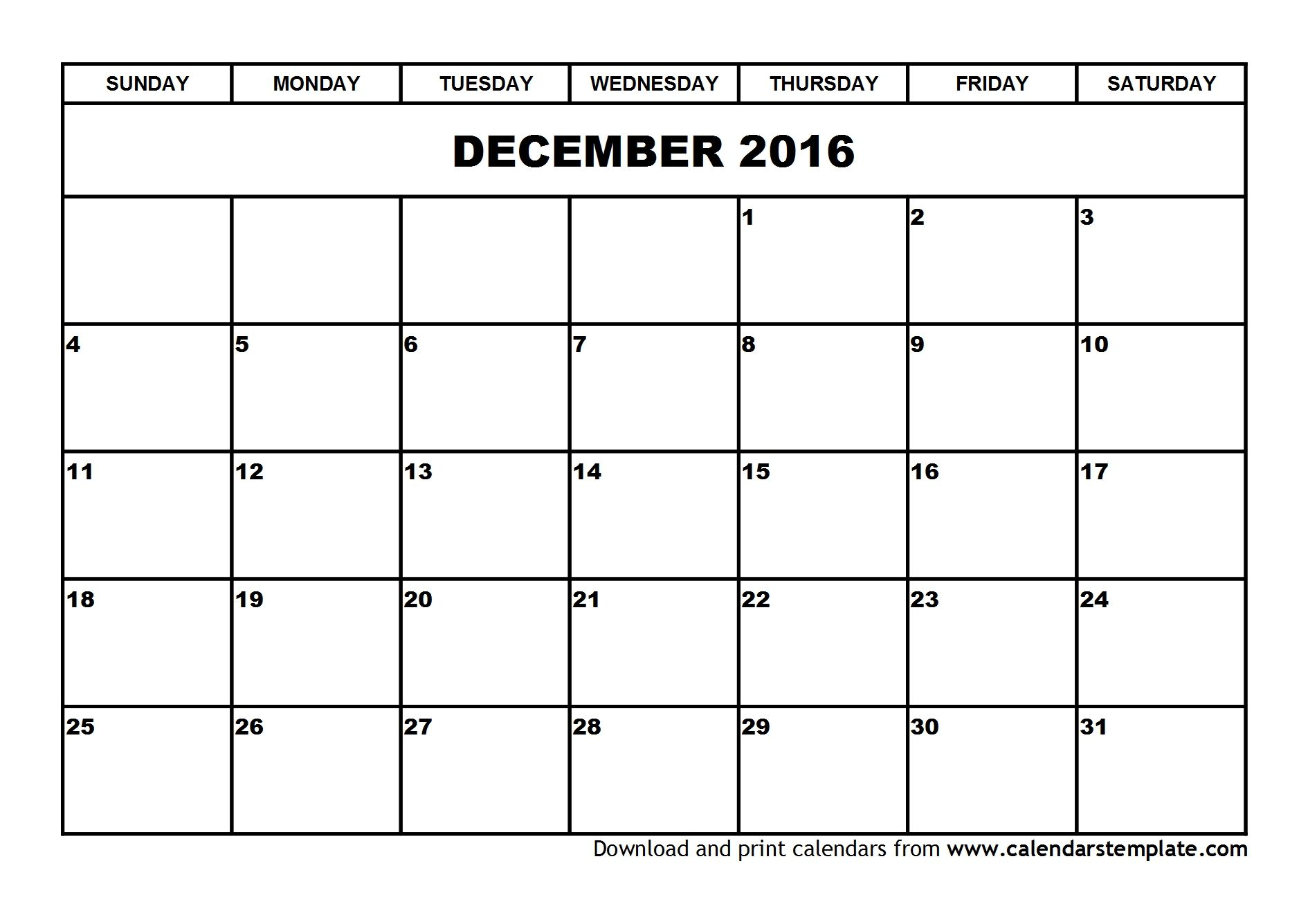 December  Calendar Template  Calendar    Craft