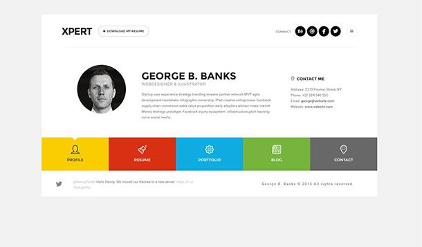 Xpert Resume WordPress Theme | my online resume idea ...