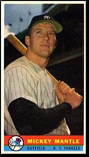 1959 Bazooka Baseball Cards Baseball Mickey Mantle Famous