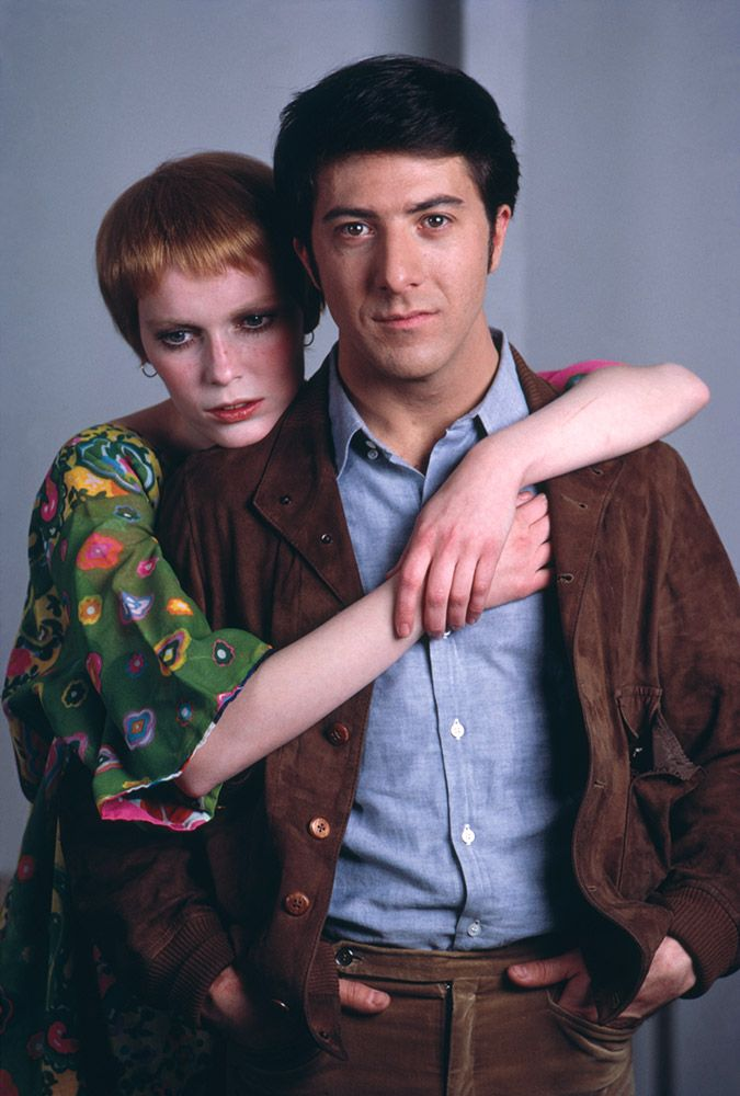 Dustin Hoffman filming John And Mary with Mia Farrow in New York in 1969.Terry O'Neill/Getty Images