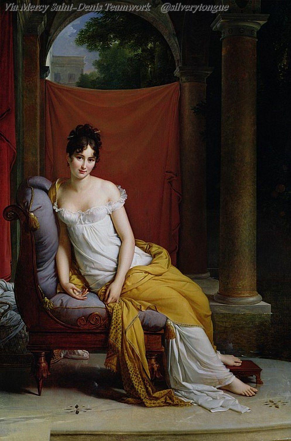 Portrait of Madame Recamier by Francois Gerard 1802.