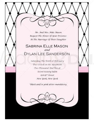 Paris Printable Wedding Program & Invitation Templates | The .