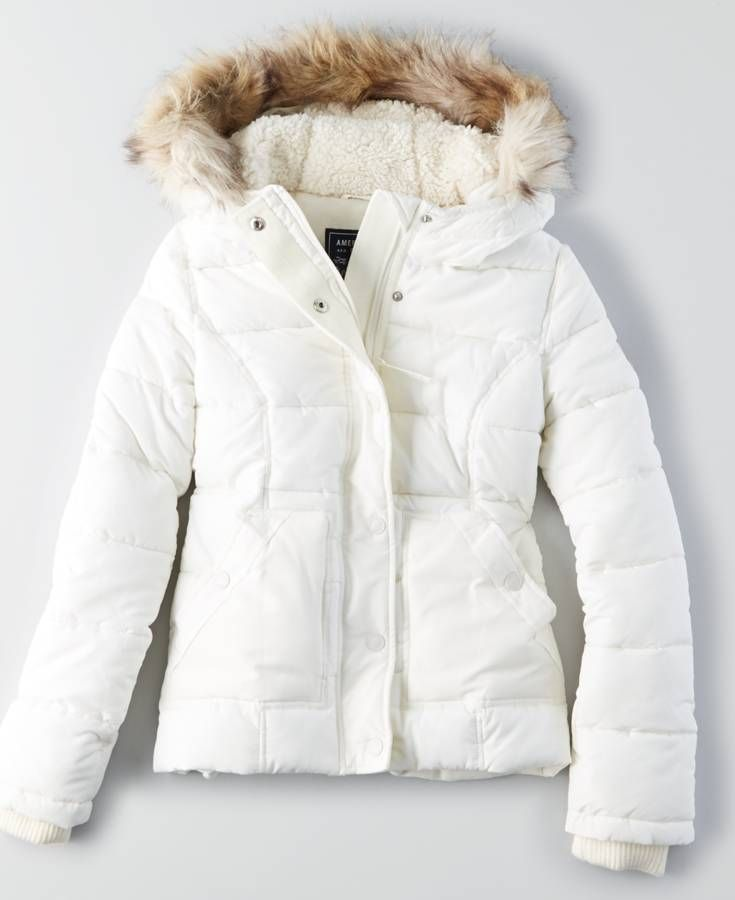 Aeo Weekend Puffer Jacket Chalk American Eagle Outfitters Jackets American Eagle Outfitters Jackets Mens Outfitters