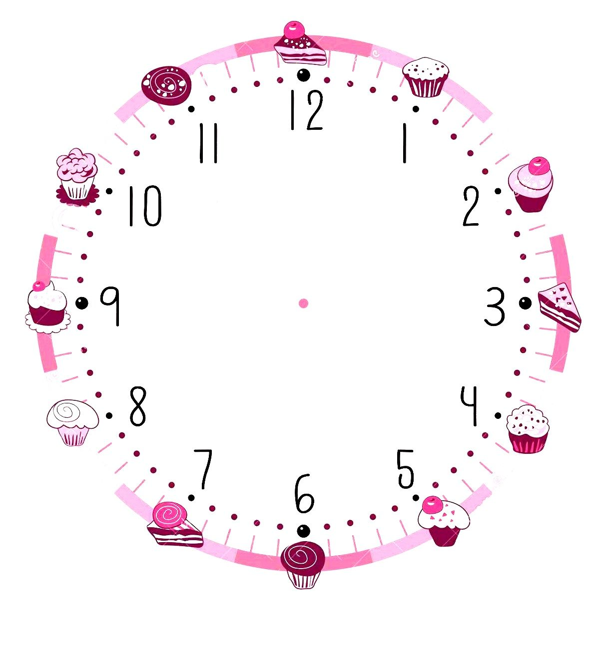 blank clock template printable that you can save and print for your childrens learning activity