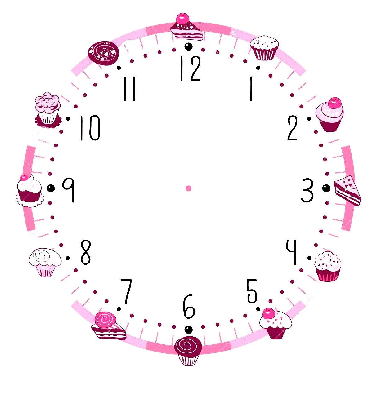 Blank Clock Template Printable