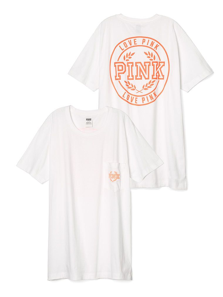 66cffe58c1af1 Campus Pocket Tee - PINK - Victoria's Secret | WANT | Mens tops ...