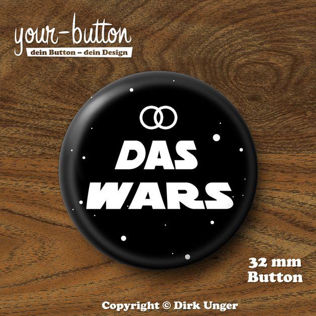 button »das wars« für junggesellenabschied (32 mm