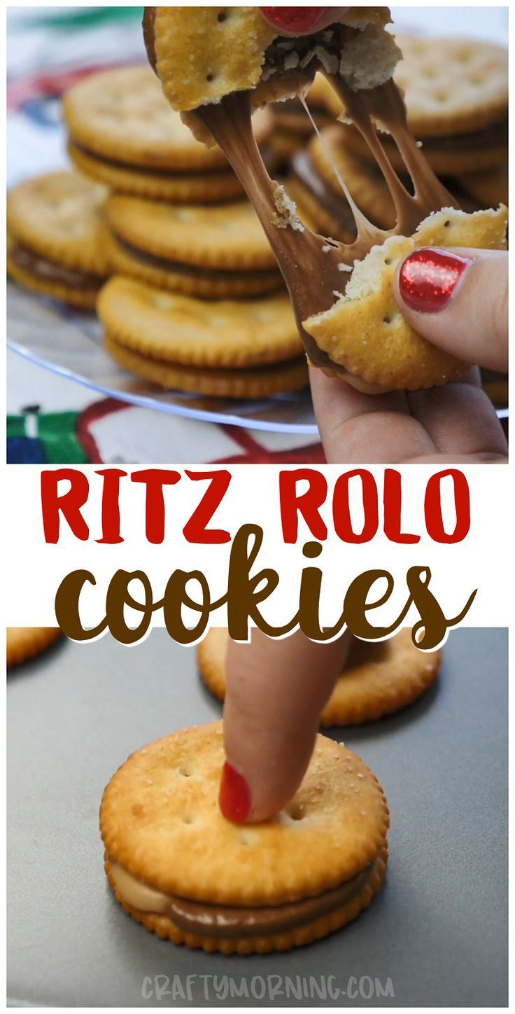 Make these ritz rolo cookies for the holidays easy and