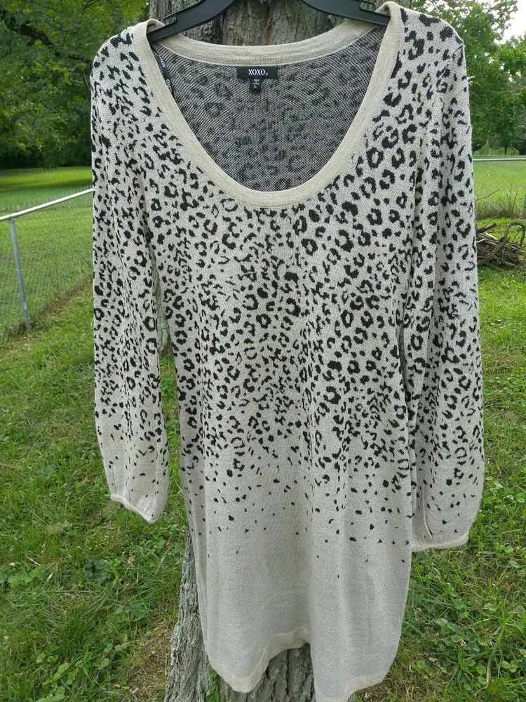 ead85d582b2 XOXO black and gold leopard dress L glittery from Dillard s - dillards  dresses  dillardsdresses