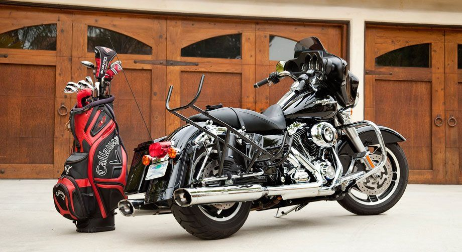 Harley Riders A Golf Bag Carrier