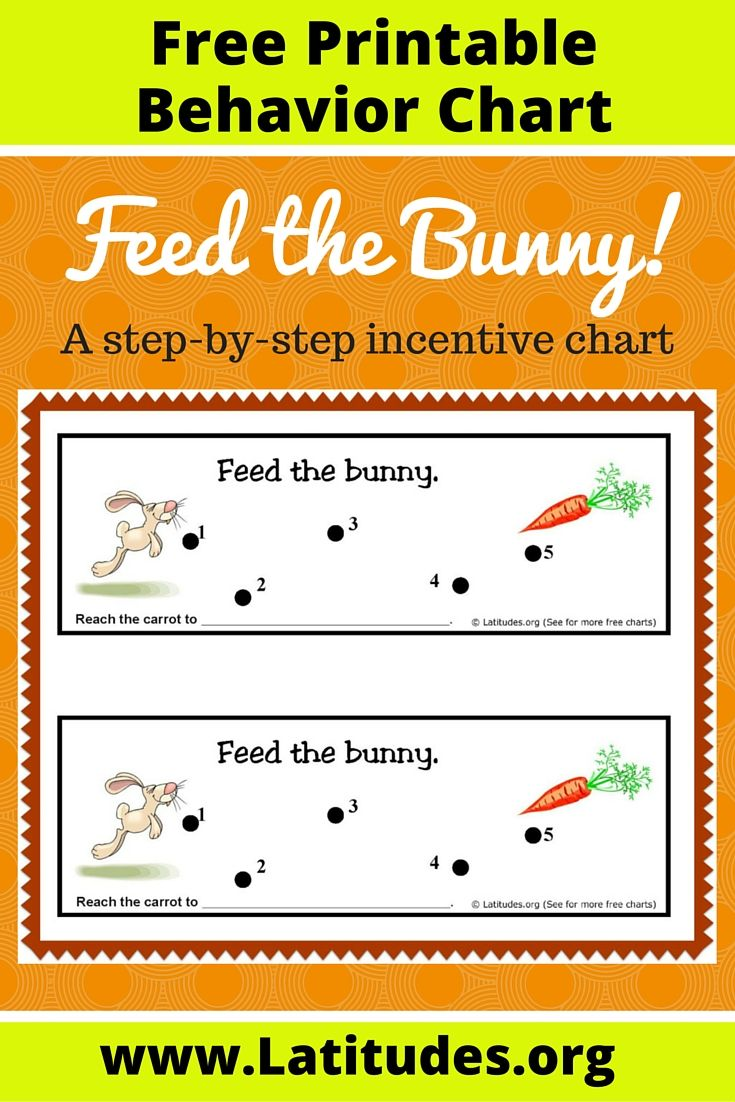 Free StepByStep Behavior Chart Feed The Bunny  Chart