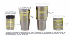 Sizing Logos And Monograms On Yeti Cups Cup Decal Decals For Yeti Cups Cricut