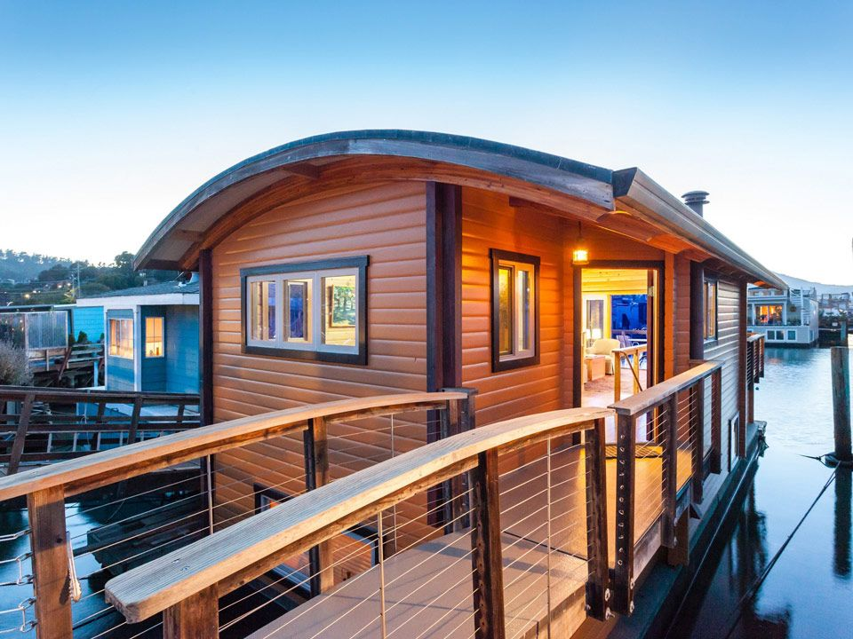 A Small Custom Houseboat In Sausalito California