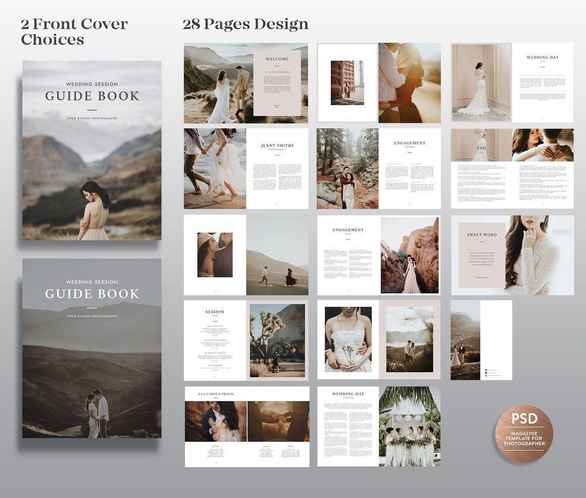 Wedding Magazine Template Mg003 In 2020 Wedding Photography Magazine Wedding Photography Magazine Template Photography Magazine Template