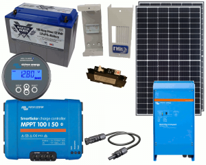 Rv Marine 12v Charging Kit With 650 Watt Solar Panel 50 Amp Mppt Charge Controller With Batteries Best Solar Panels Solar Energy Solar Projects
