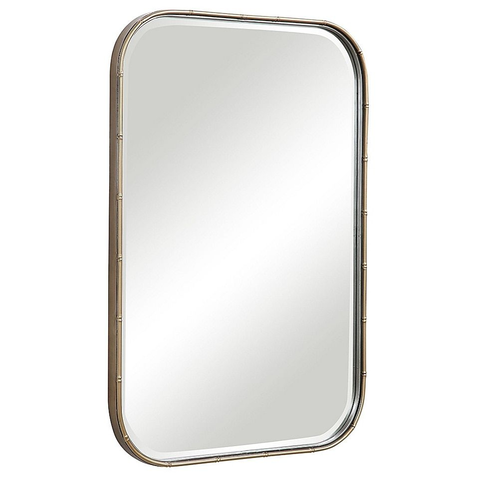 Uttermost Malay 20 X 30 Rectangular Vanity Mirror In Gold Vanity Wall Mirror Mirror Design Wall Mirror Wall