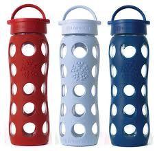 22 Ounce Flat Cap Bottle Glass Water Bottle Bottle Reusable Glass Water Bottles