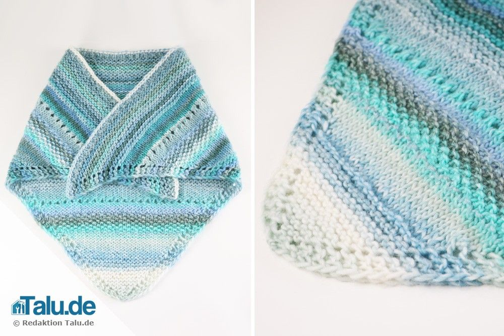 Photo of Knit cloth – Instructions for a simple shoulder cloth – Talu.de