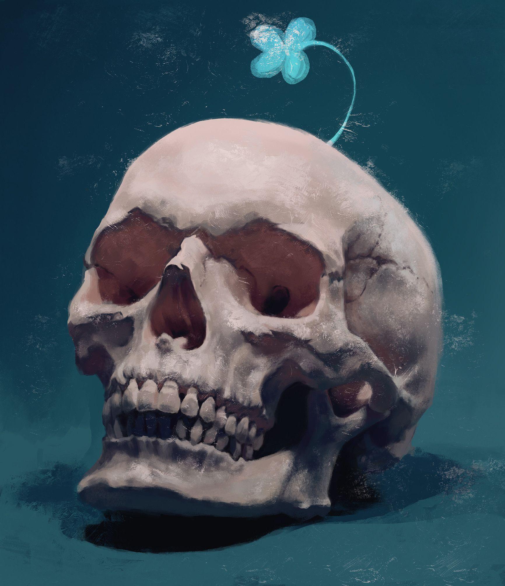 него было картинку череп прикольные черепа сделать