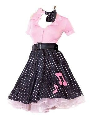 d8f6c1489f  Ladies sexy rock n roll  1950s 50s 60s grease  fancy dress pink lady