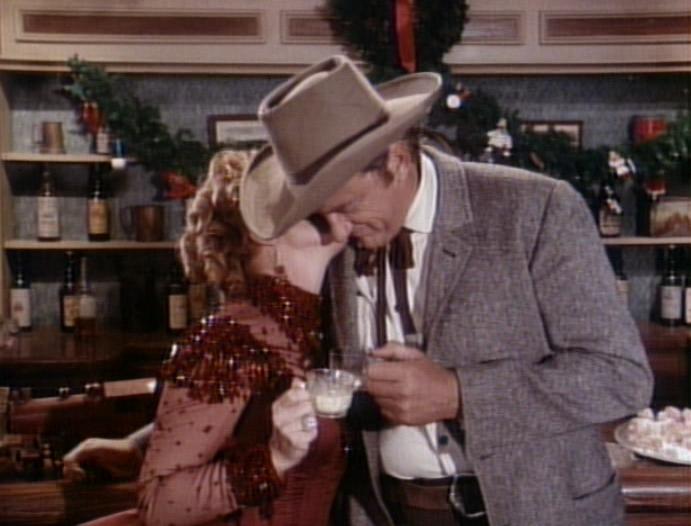 james arness kissing | Christmas TV History: Gunsmoke