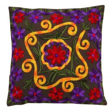 #  EMBROIDERED CUSHION CASE