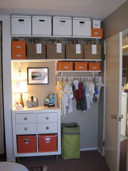 Awesome storage space! Could I do this in my spare room closet ...