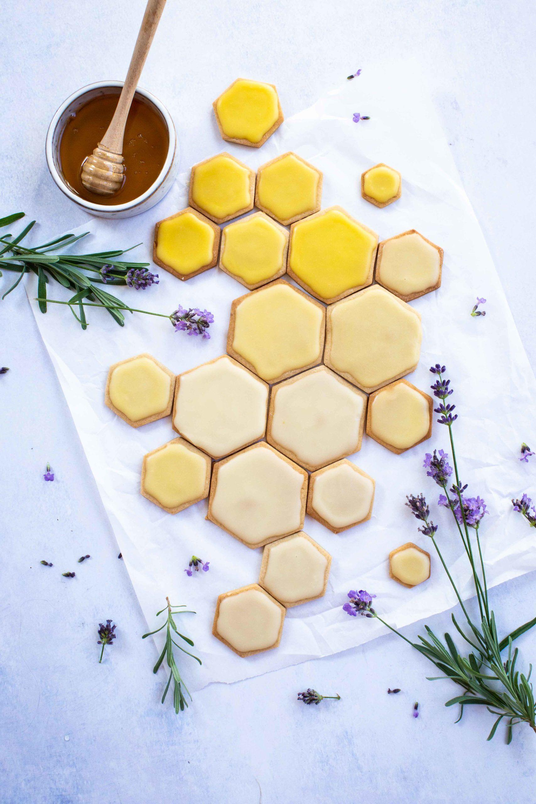 Honig Kekse In Waben Form Liz Friends Kekse Honigwabe Honig