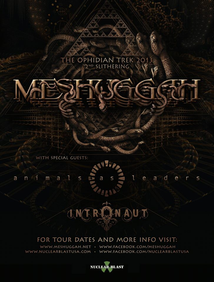 La Gig Alert Meshuggah W Animals As Leaders Intronaut On Saturday March 2nd The Wiltern All Ages 40 6 30 Pm M