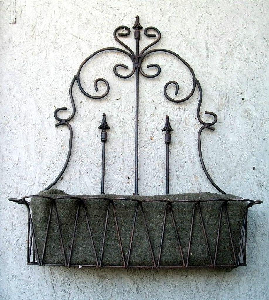 37 Wrought Iron Spear Fence Window Box Wall Planter Metal Flower Pot E Bay 79 95 Dizajn Dizajn Sada