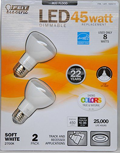 Feit Eelctric 1026816 8 Watt Led Dimmable 45watt Replacement Bulbs Soft White Pack Of 2 Bulb Watt Led