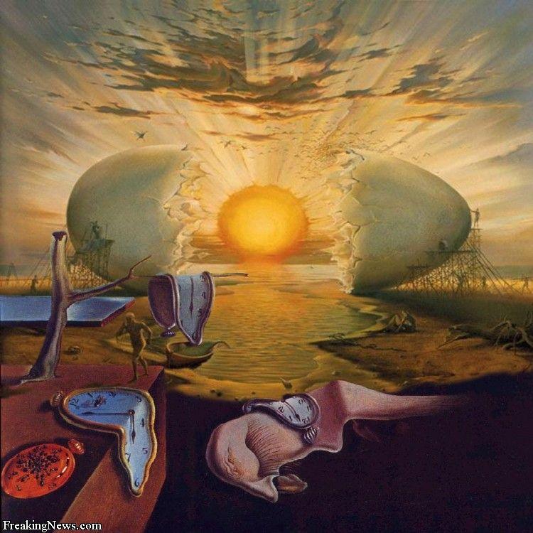 Resultado de imagen de salvador dalì huevo cosmico gifs
