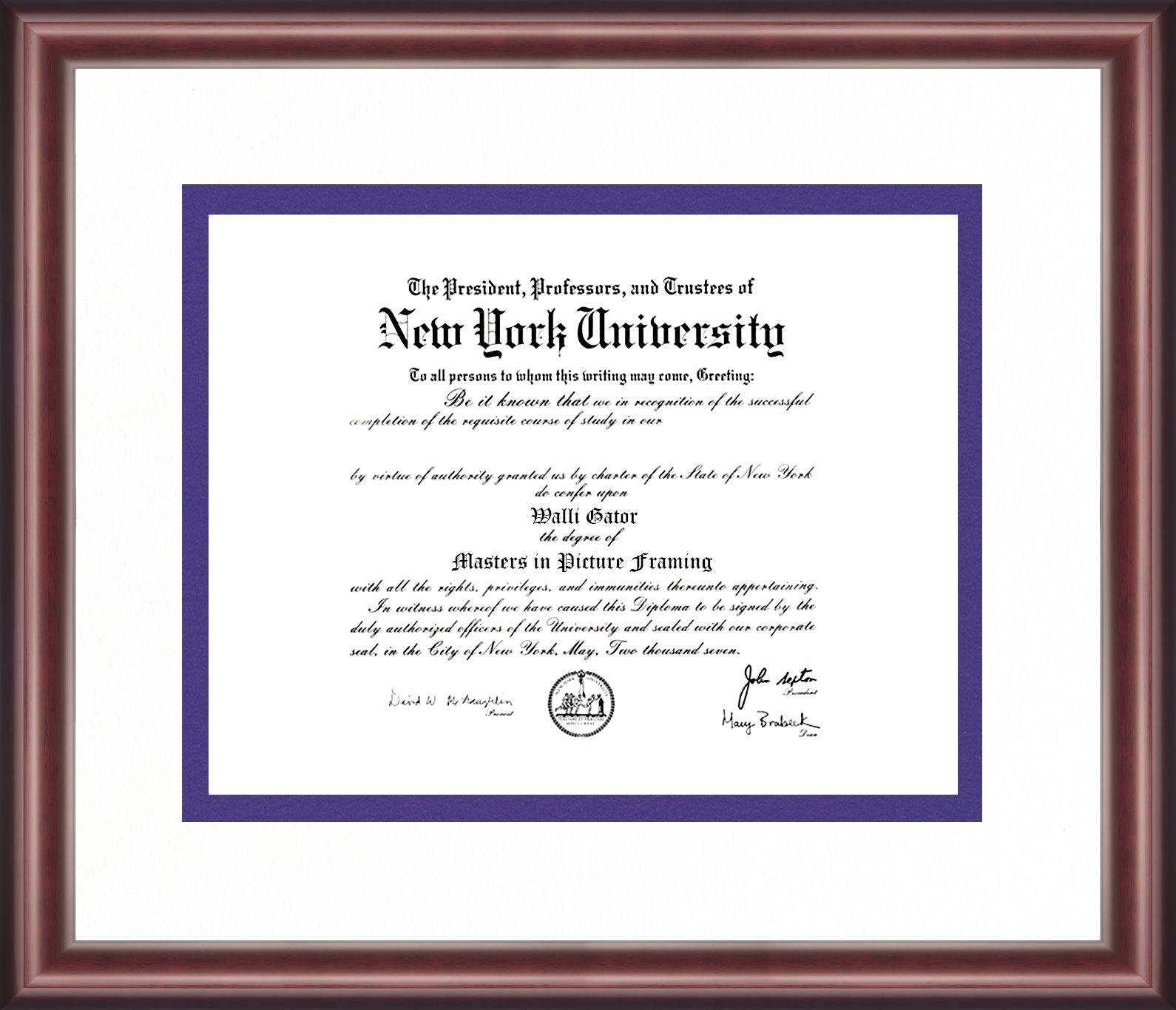 New York University Diploma Frame Talking Walls Diploma Frame University Diploma York University