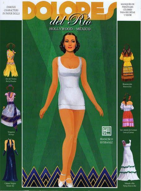 Dolores del Rio paper doll by Francisco Esteranez / picasaweb.com